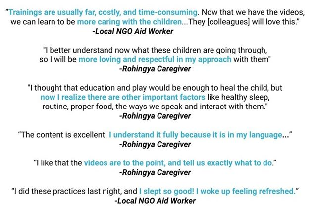 How effective was No Limit Gen's child emotional well-being training program? Check out some of these quotes from the teachers who received training. With our Mental Health Mission we can reach tens of thousands of children -- Make the mission possible by helping us reach $25,000 here: https://bit.ly/2Wwje5Q .