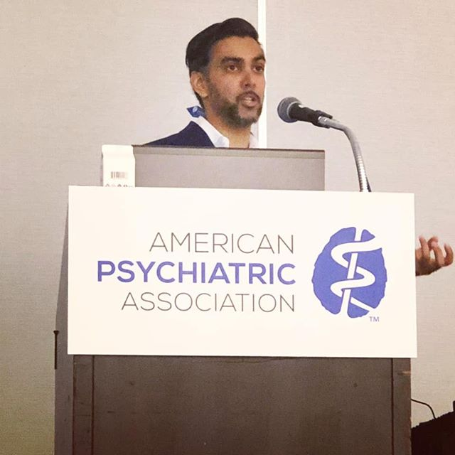 """A child's past does not need to determine his or her future. If we surround them with love, security, and believe in their limitless potential they can heal and achieve wonders! . Samier Mansur repeated this on stage at the American Psychiatric Association Annual Conference last week in SF, appropriately themed """"Disrupt, Include, Engage, and Innovate"""" . We have a mental health mission planned to bring trauma healing to the world's most vulnerable children. Help us reach our goal by joining the mission here 🙏🏽💚: https://lnkd.in/eStaKV"""
