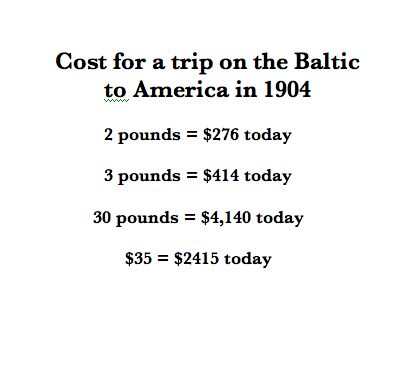 Expensive! - Although this may not seem expensive to us, Britta's father probably made about $2 a day, barely enough to live on. It's no wonder it took years to save passage for five people from Finland to New York.