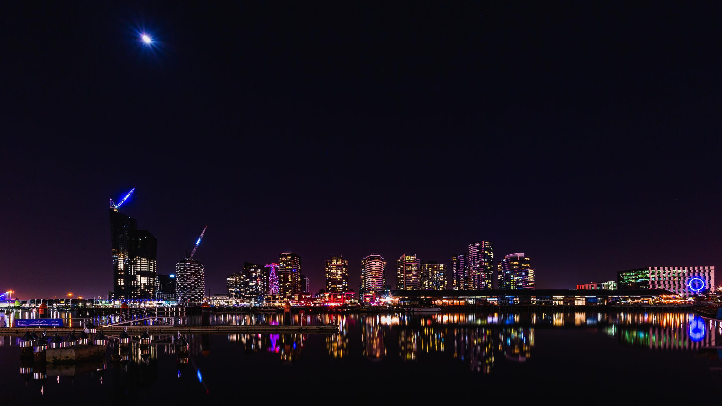Docklands at night