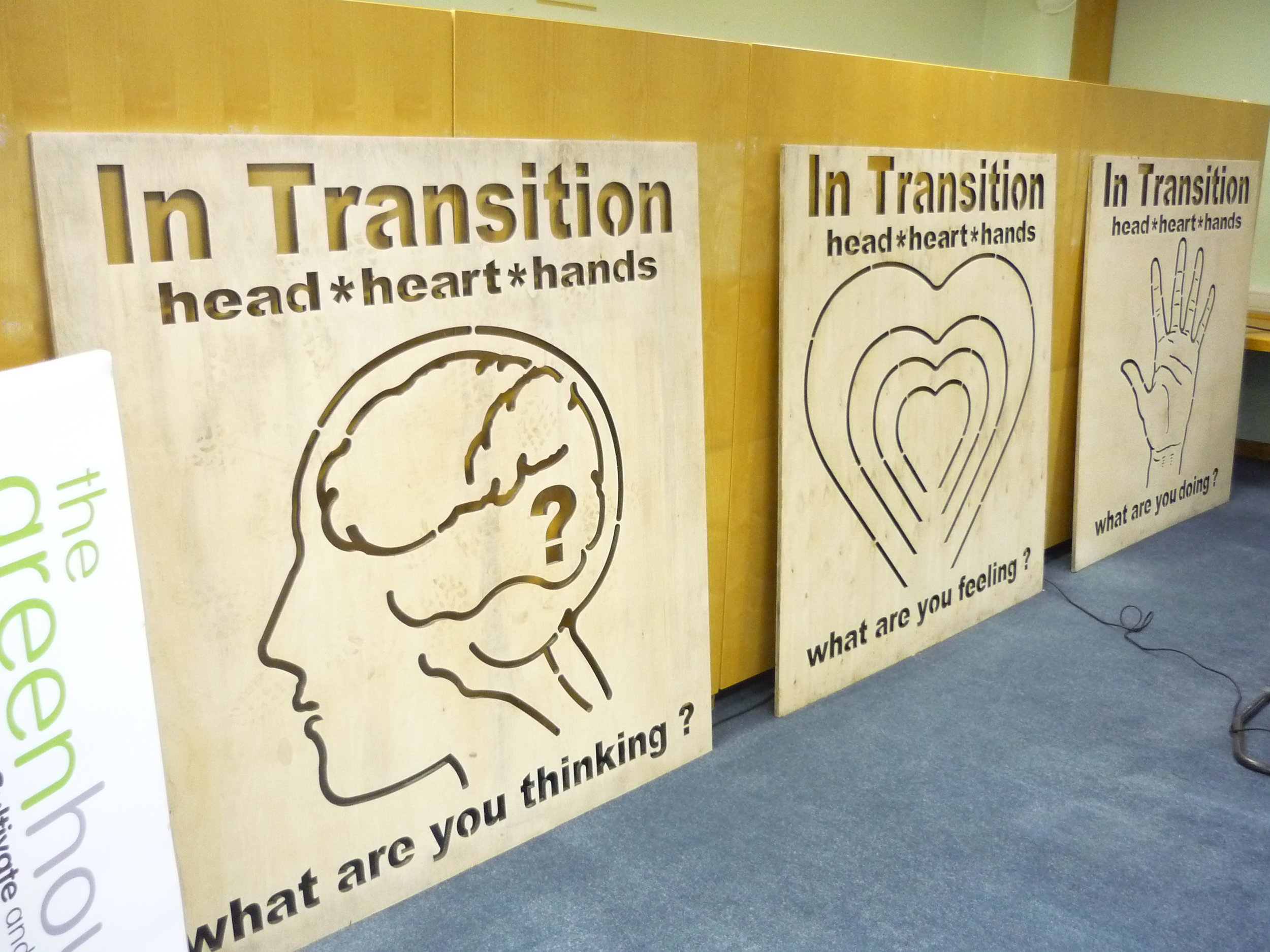 Transition: thoughts, emotions, action.