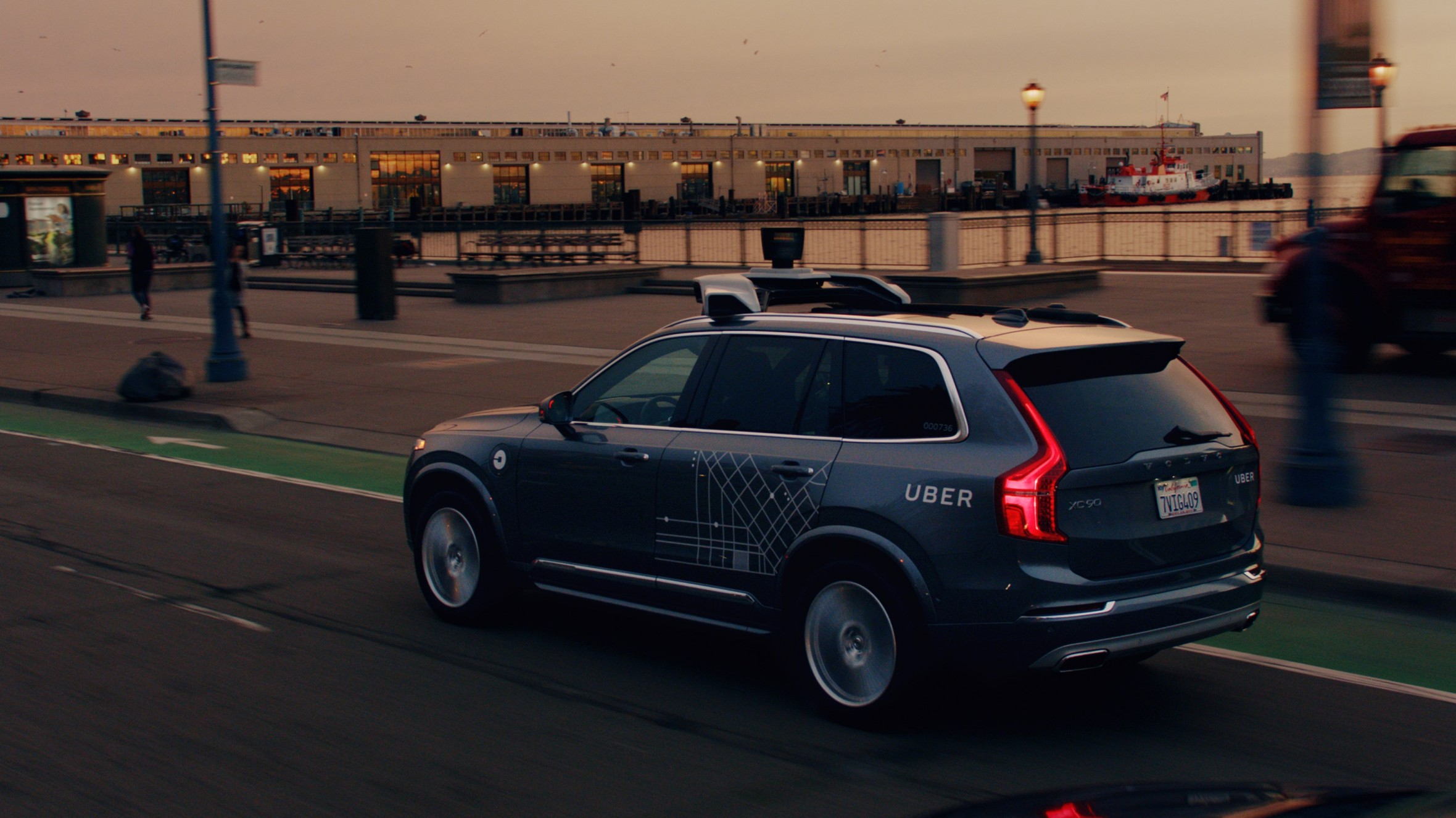 Uber Volvo XC90 autonomous vehicle, image from  MIT Technology Review article