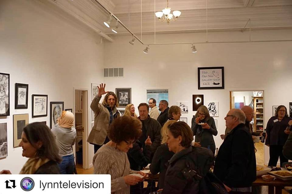 "February 1st, 2019 ""Contrast"" opening reception.  Photo credit Lynn Community Television"