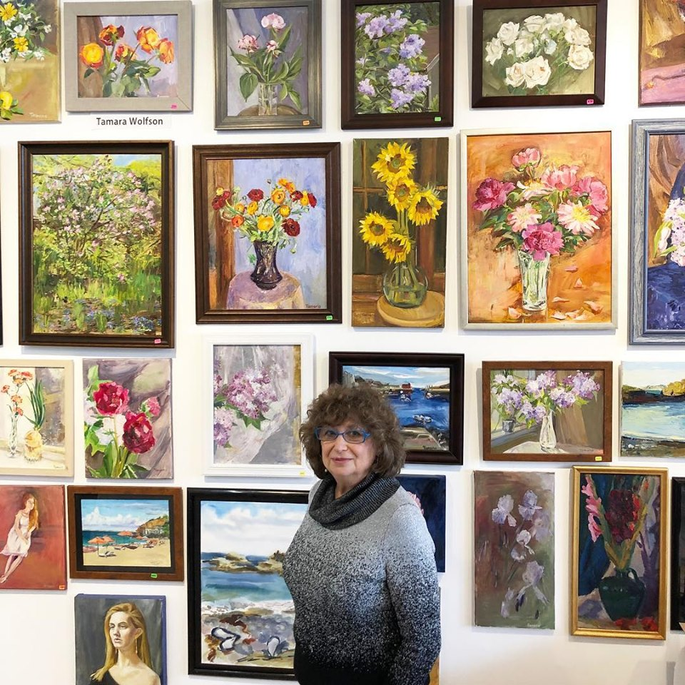 April 27th, 2019 Extending the Ironbound Sale. Tamara Wolfson with her artwork. Photo credit:  Emmanuelle Le Gal