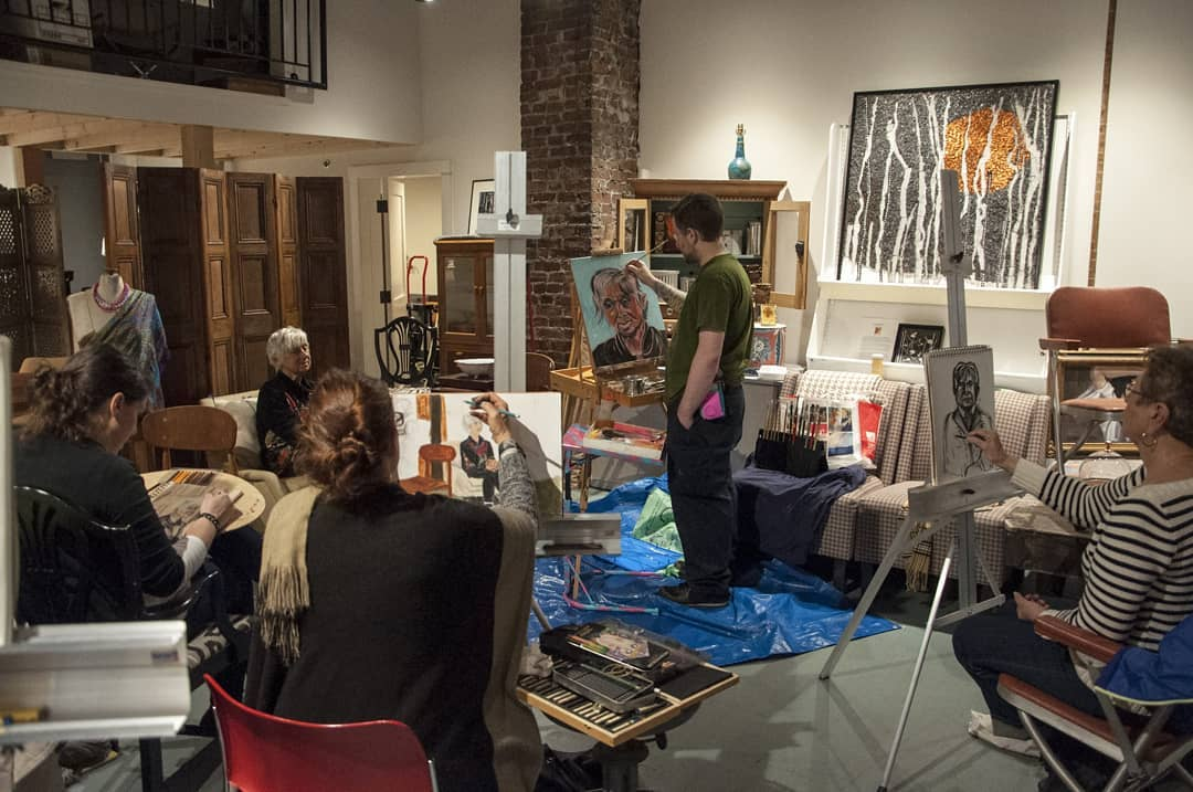 May 2nd, 2019 Life Drawing Group Photo credit:  Vacant Skye Photography