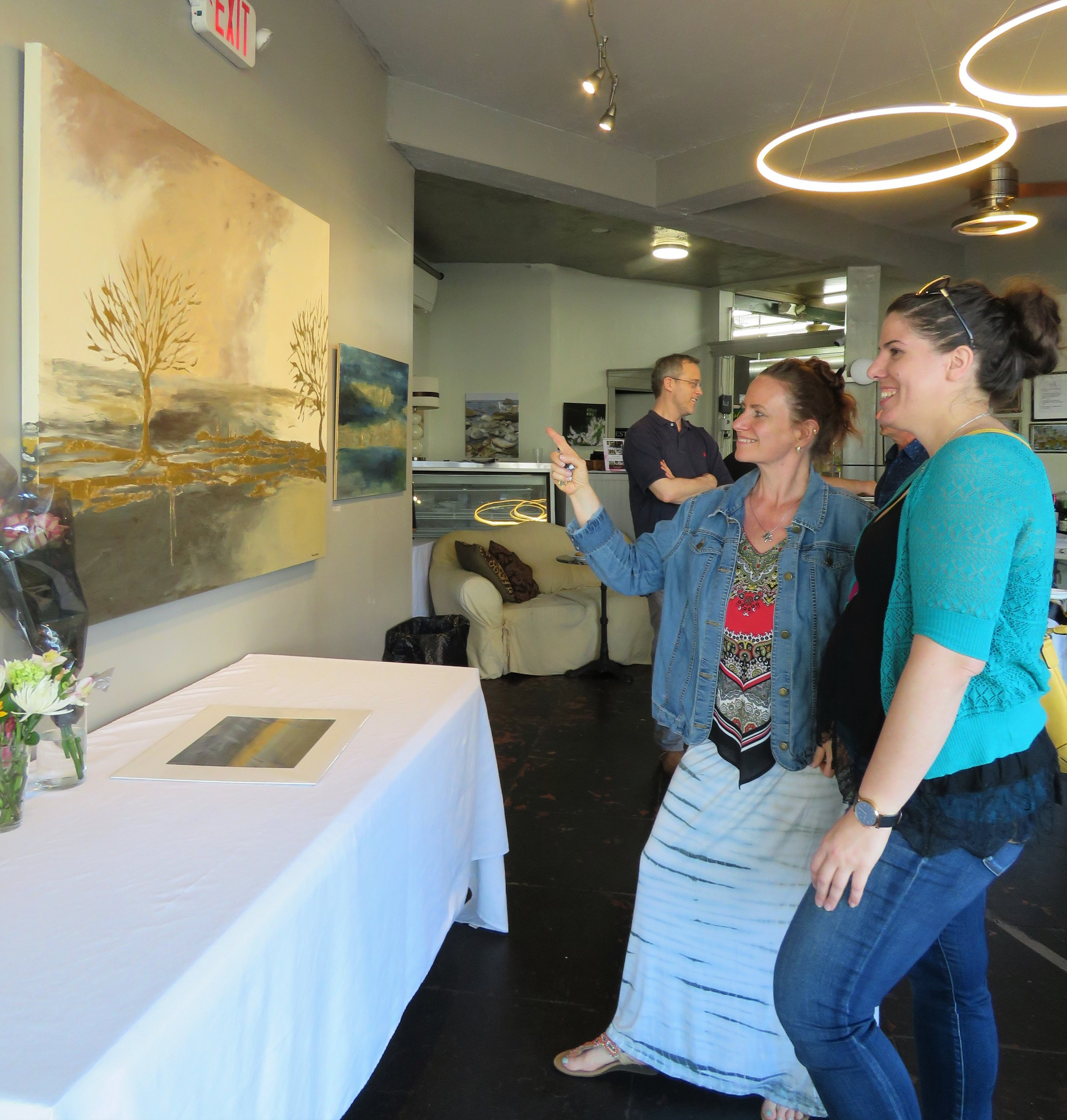 June 8th, 2019 Traveling GALA artist's reception with  Annette Sykes  at Christopher's Photo credit:  Nicole Werth