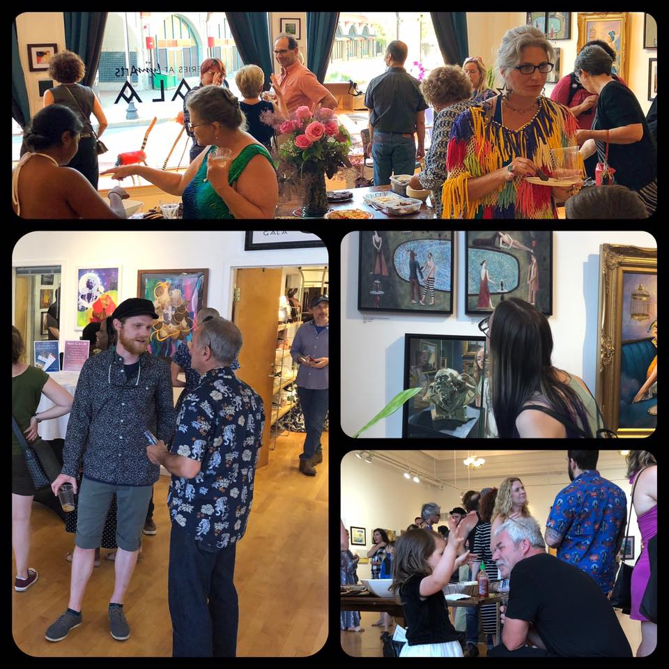 June 28, 2019 Imaginary Spaces and Far Off Places Opening Reception. Photo credit Mizlizzee Photography.