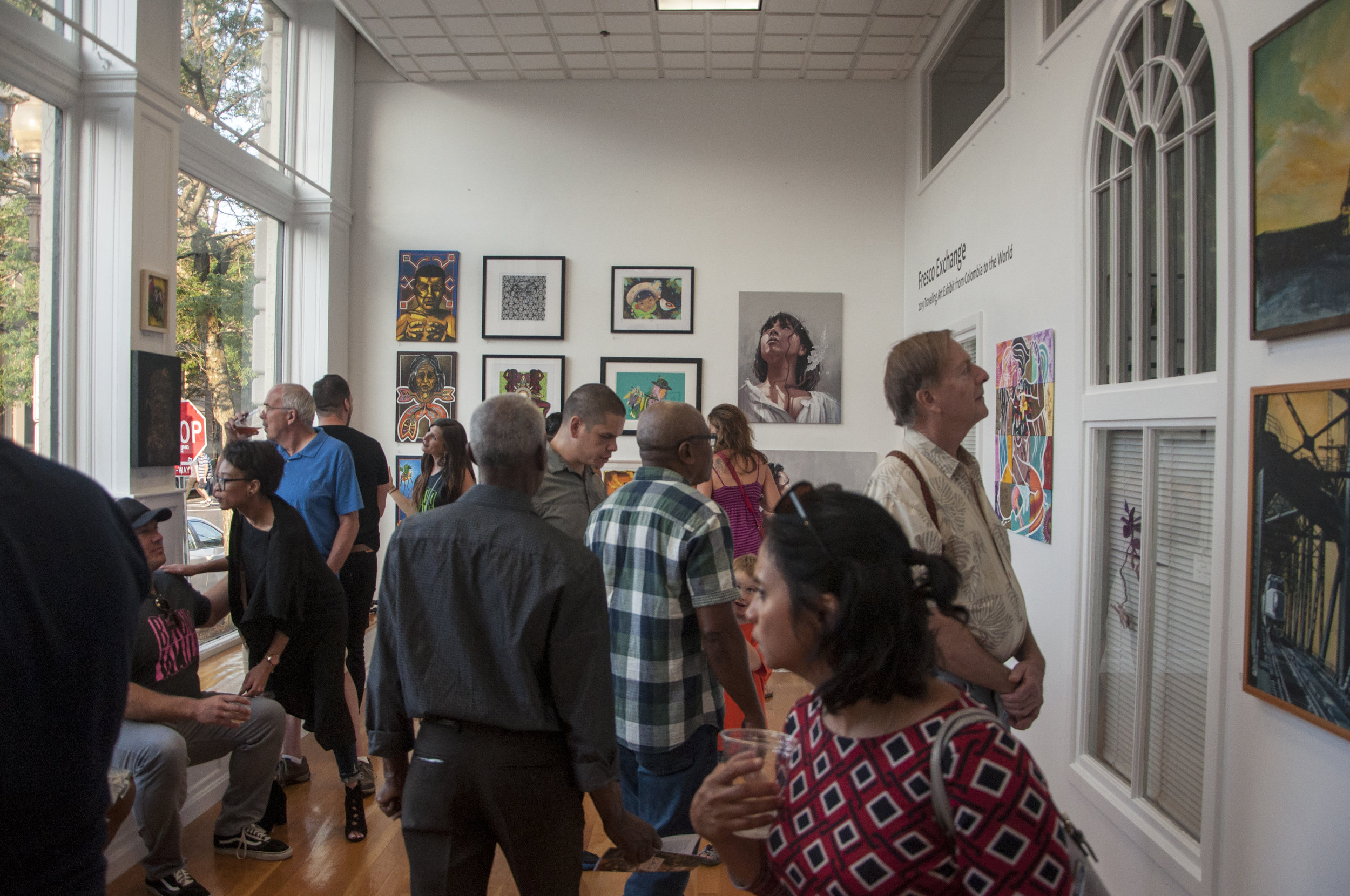 August 2, 2019 Fresco Exchange Opening Reception. Photo credit Vacant Skye Photography.