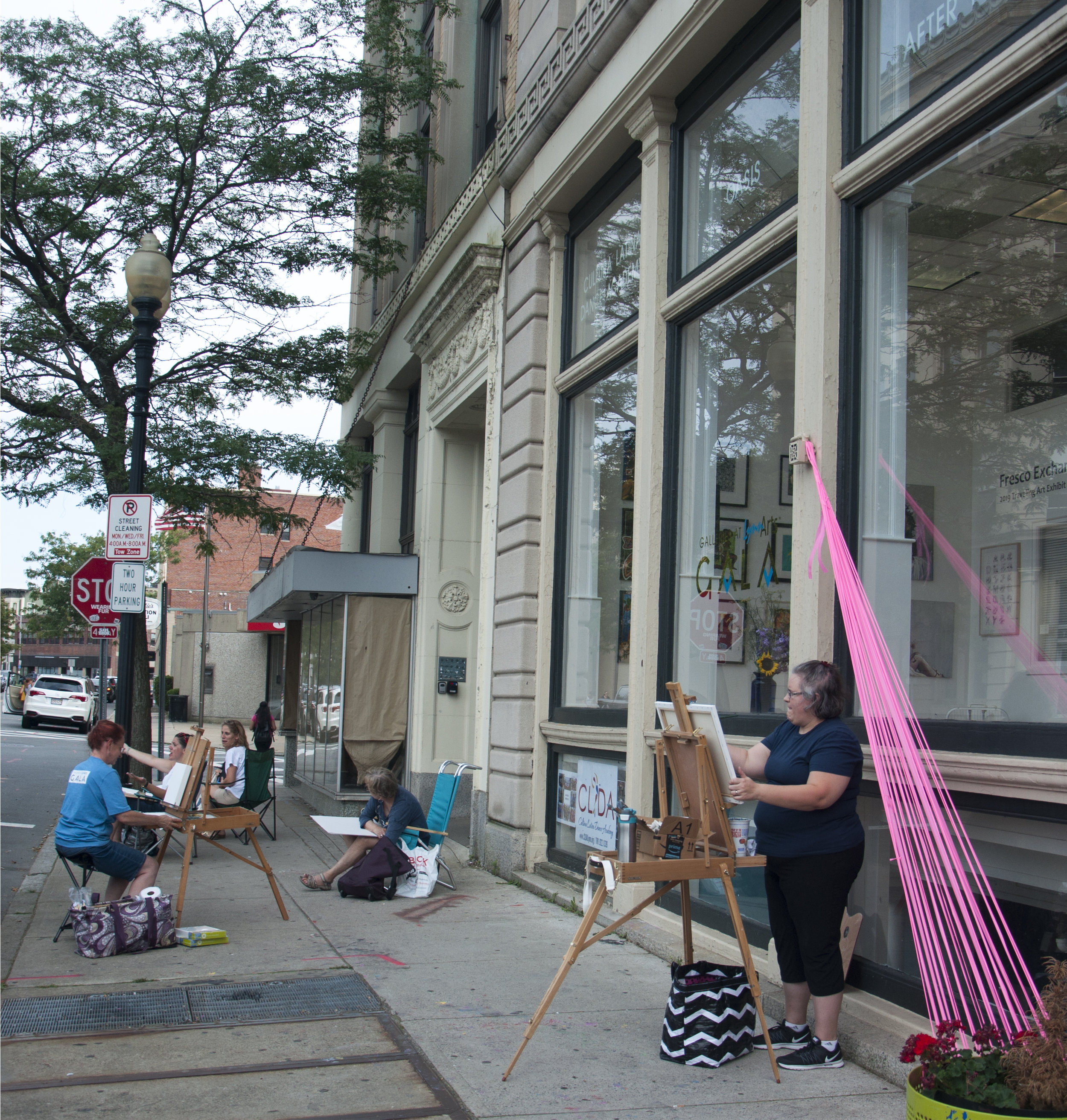 August 3, 2019 Plein Air Excursion during Rock the Block. Photo credit Vacant Skye Photography.