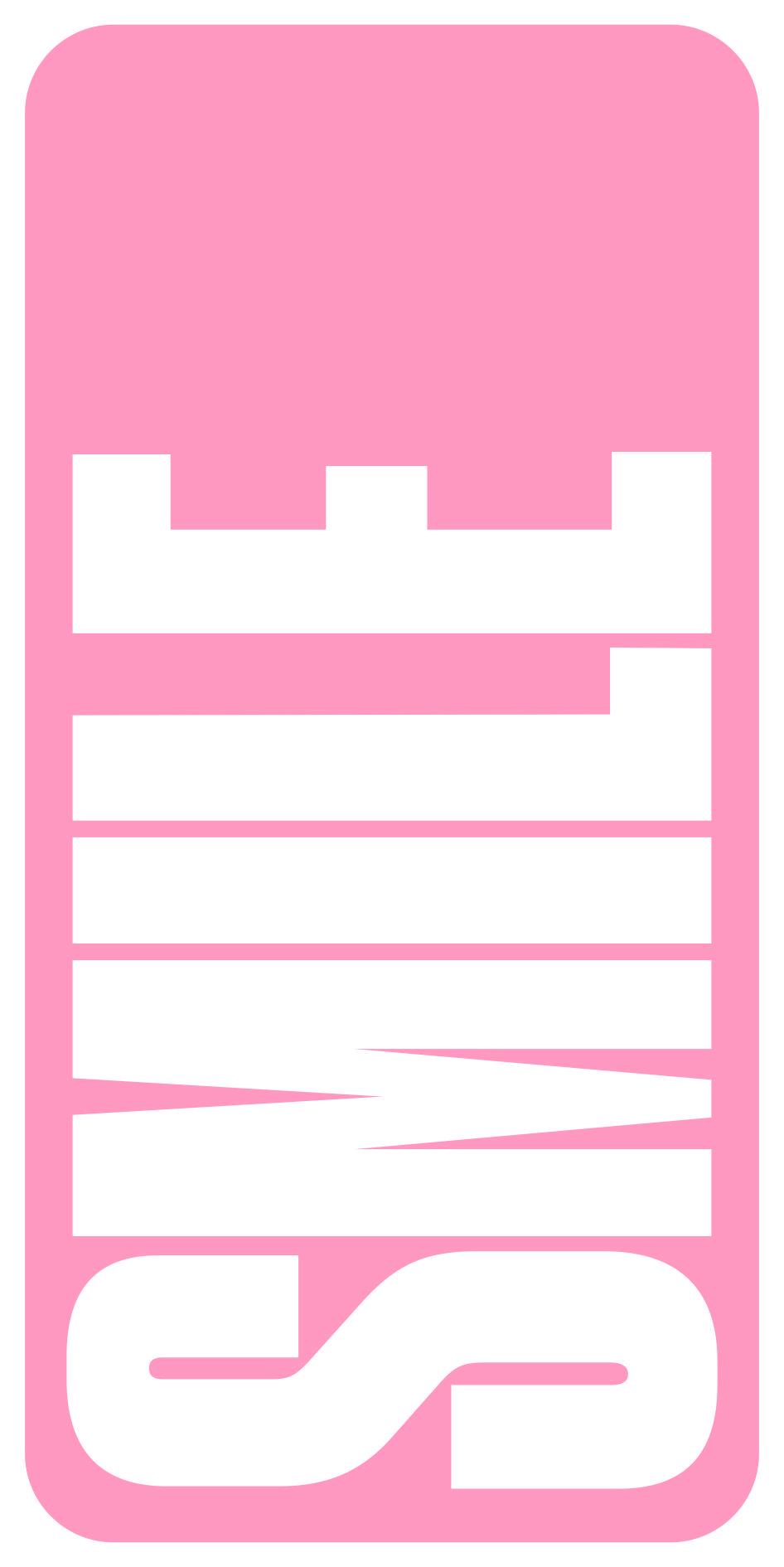 Nombre blanco fondo rosa 010