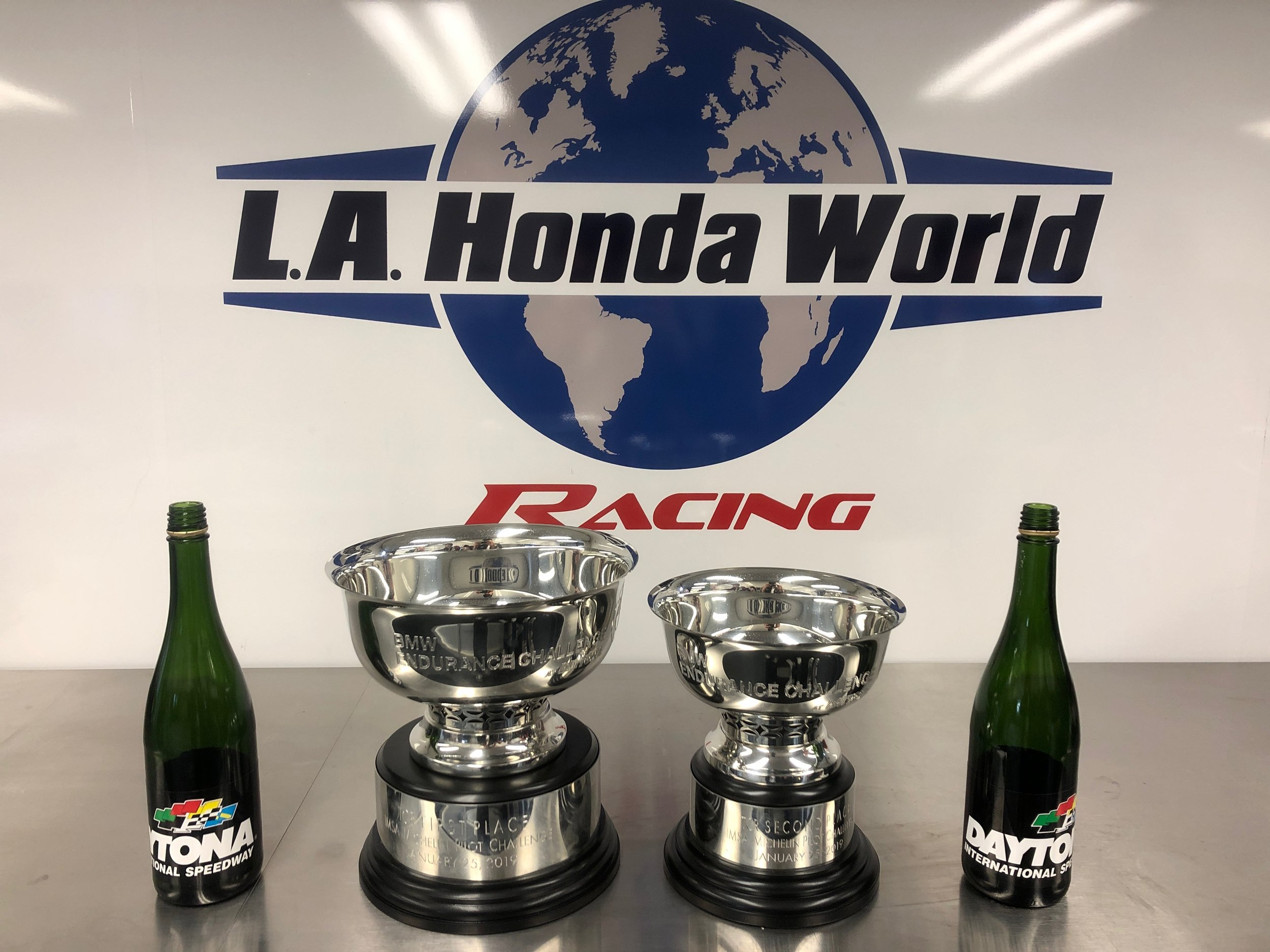 L.A. Honda World finishes with 1st and 2nd place trophies at the Michelin Pilot Challenge season's first race