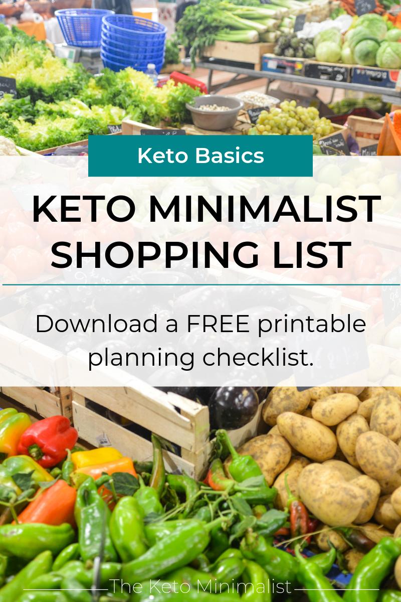 Free printable keto shopping list. The Keto Minimalist