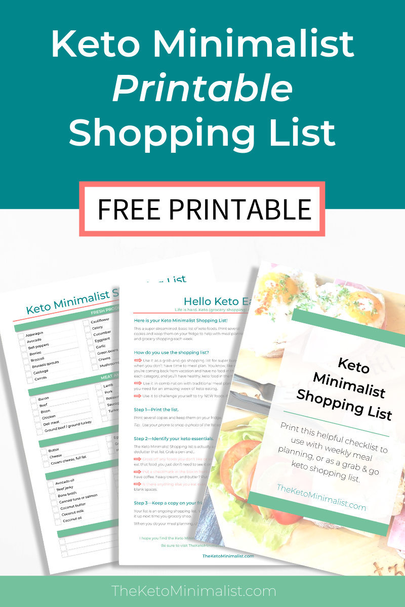 picture relating to Keto Shopping List Printable named Absolutely free Printable Keto Searching Listing PDF Keto Grocery Record