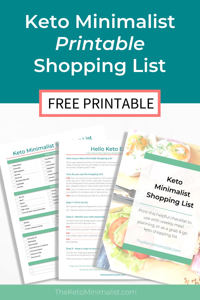photograph regarding Printable Keto Shopping List titled Cost-free Printable Keto Buying Record PDF Keto Grocery Record