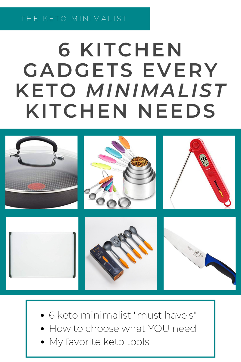 6 kitchen gadgets every minimalist keto kitchen needs. And how to decide what your keto cooking essentials are.   The Keto Minimalist