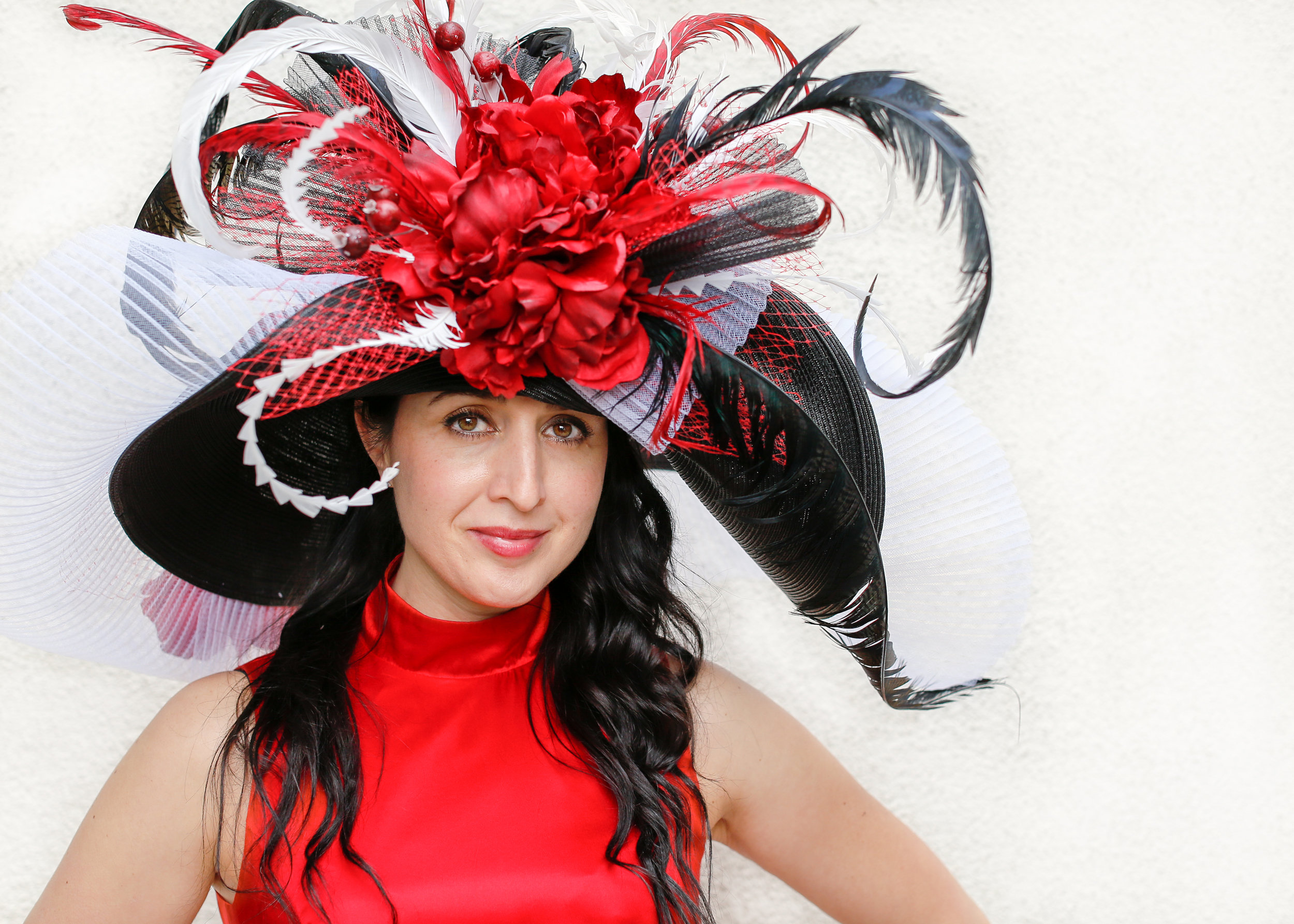 """High Fashion - We partnered with @vintagetreasuresarcadia to photograph some beautiful vintage hats and dresses! It's awesome when you take an """"ordinary mom"""" and transform her into a glamorous Diva with just a hat!"""