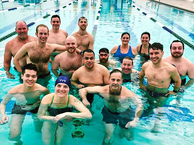 Our first practice is done! Holy turnout, Batman! Thank you for all coming out (to practice, not the proverbially closet, lol)! See you all on Sunday!! #mniceswimclub #mastersswimming #usms #swimming #queerswimming #gayswimteam #minneapolis