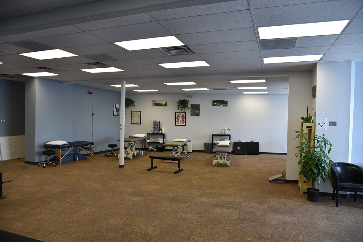 3,000 Square feet - Our clinic is about 3,000 square feet with a gym area, treatment areas, private bathrooms and one private treatment room.