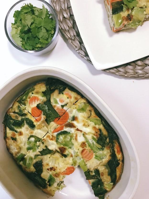 Meal Prep Breakfast Egg Bake (Paleo, Vegetarian, Low Fat, Low Carb, Keto)