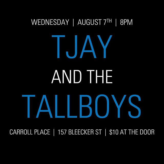 2 days to go... how's your Wednesday looking? 😎@carrollplacenyc @khalifbobatoon @joeyspallina @tjayandthetallboys @tallteej