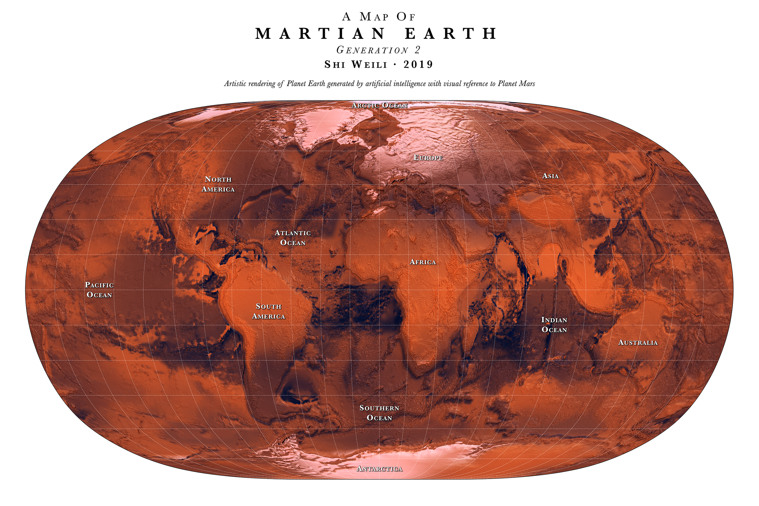 A Map of  Martian Earth  Generation 2  2019.