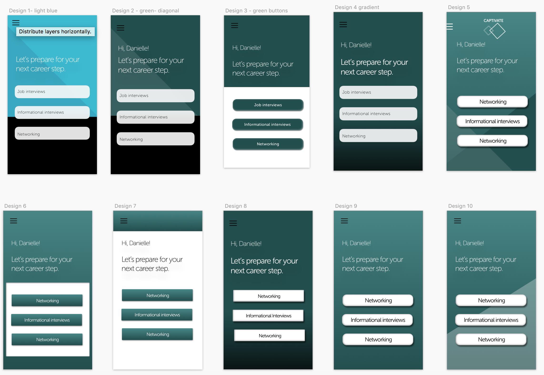 Homescreen UI options