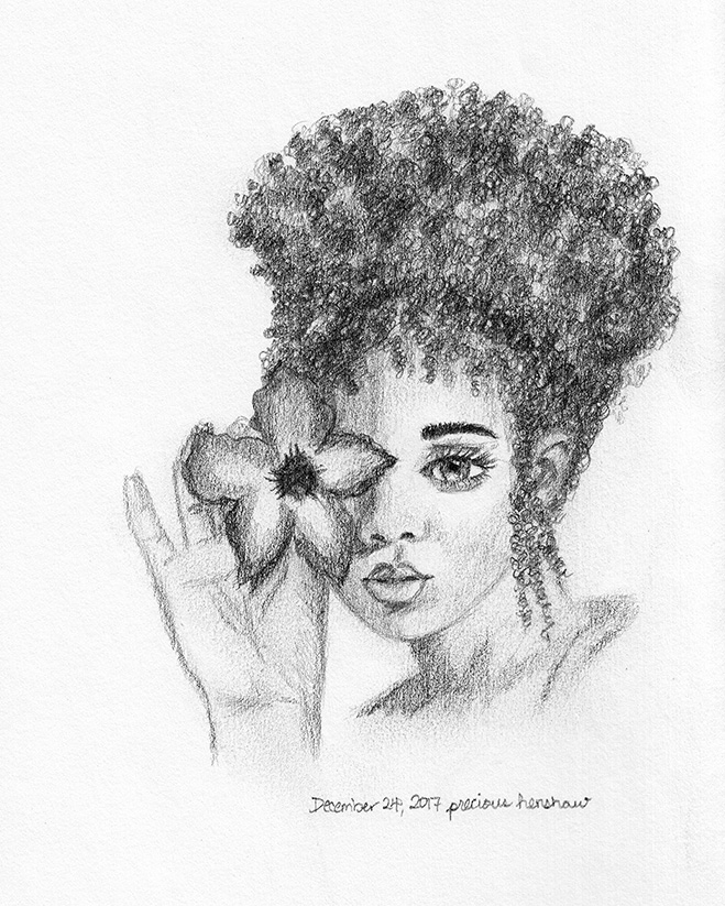 effloresce   graphite on paper