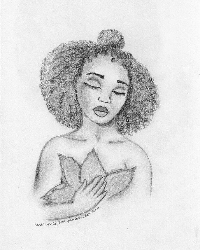 stillness   graphite on paper