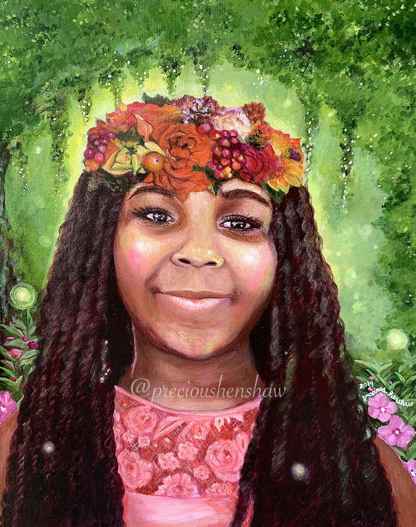 """Portrait of Naava"" • oil on canvas"