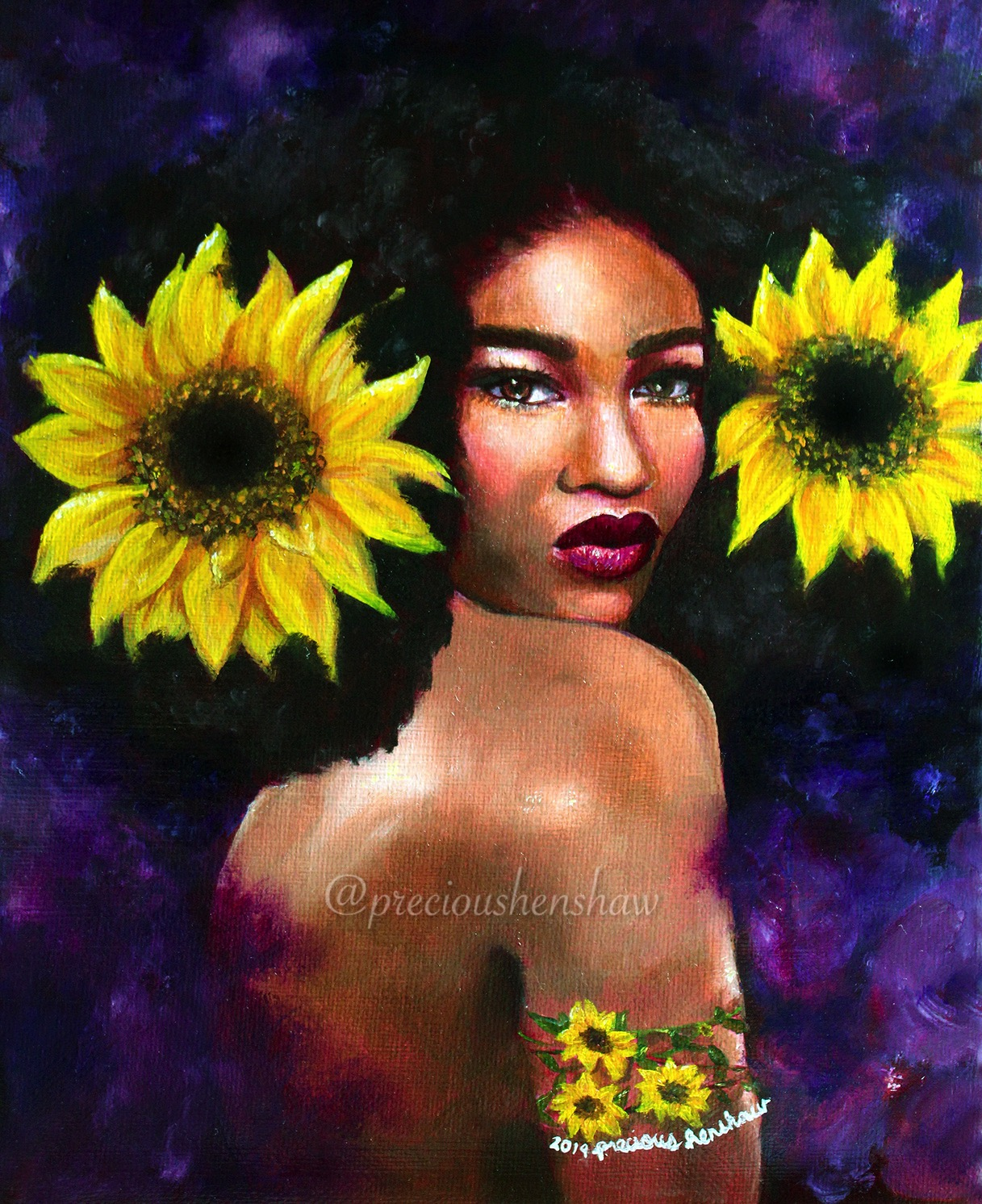 """Girasol"" • oil on canvas"