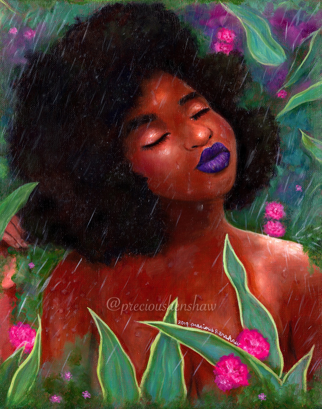 """""""Humecta's Rainforest"""" •  oil on canvas"""