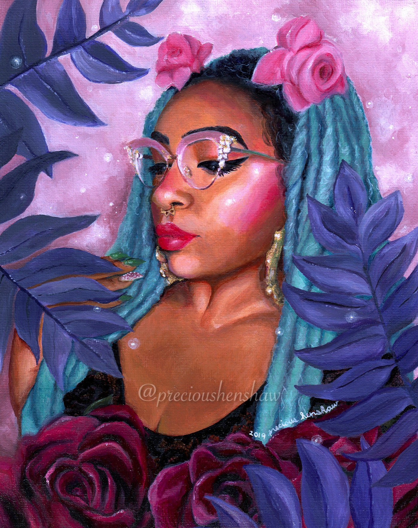 """Portrait of Zahira"" •  oil on canvas panel"