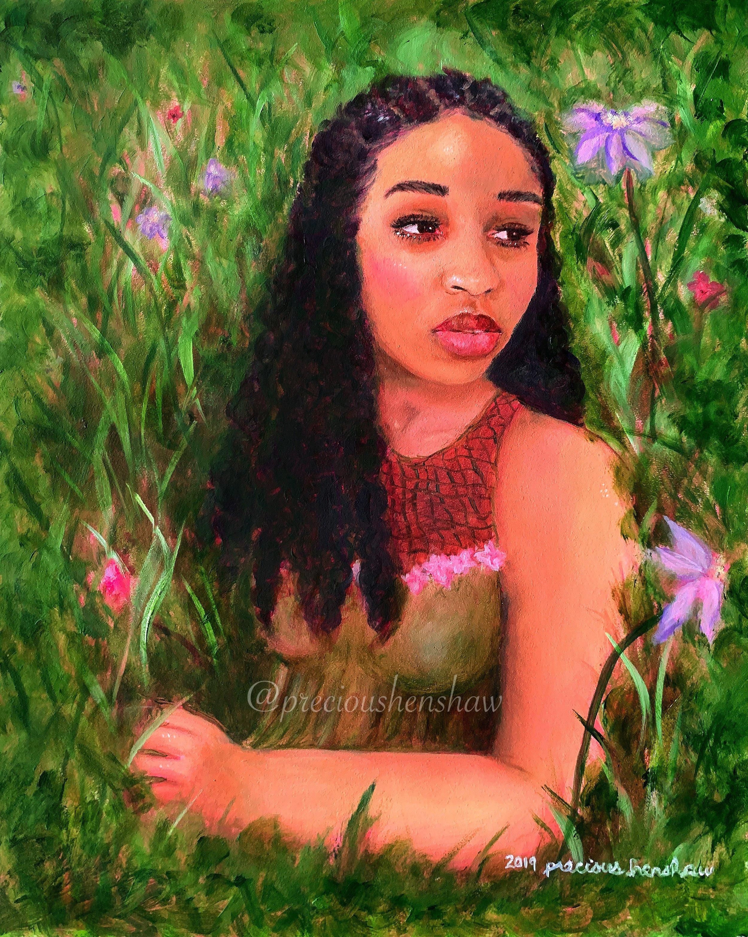 """Self Portrait""  • oil on gessobord"