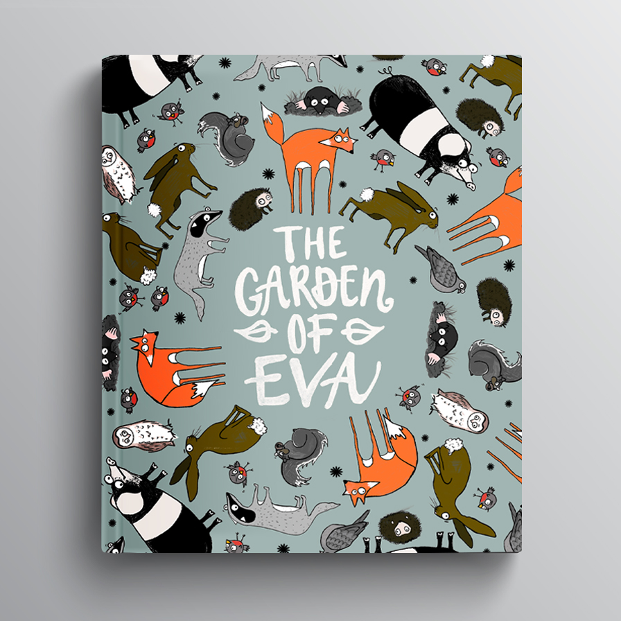 - THE GARDEN OF EVA…Becoming a mummy I have read my fair share of children stories. My daughter Eva loves animals so I decided to illustrate a children's book for her. I began creating characters to illustrate a magical adventure, of the animals she would meet in her own english garden. The title is a nice play on words of The Garden of 'Eden'.A friend of mine has written the story with a second book to follow about his son, The Garden of Ethan.