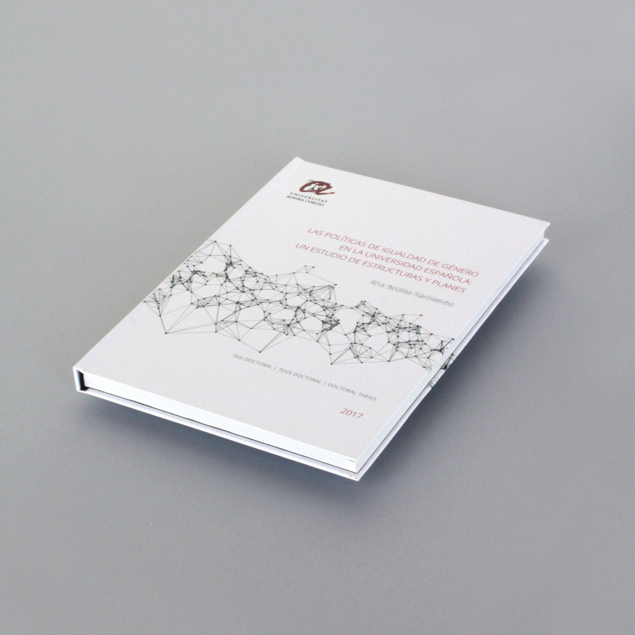 Tesis doctoral - Formato A4 · 256 págs · tapa dura plastificada acabado mate.La encuadernación es cosida. La más recomendable para un libro de lectura.