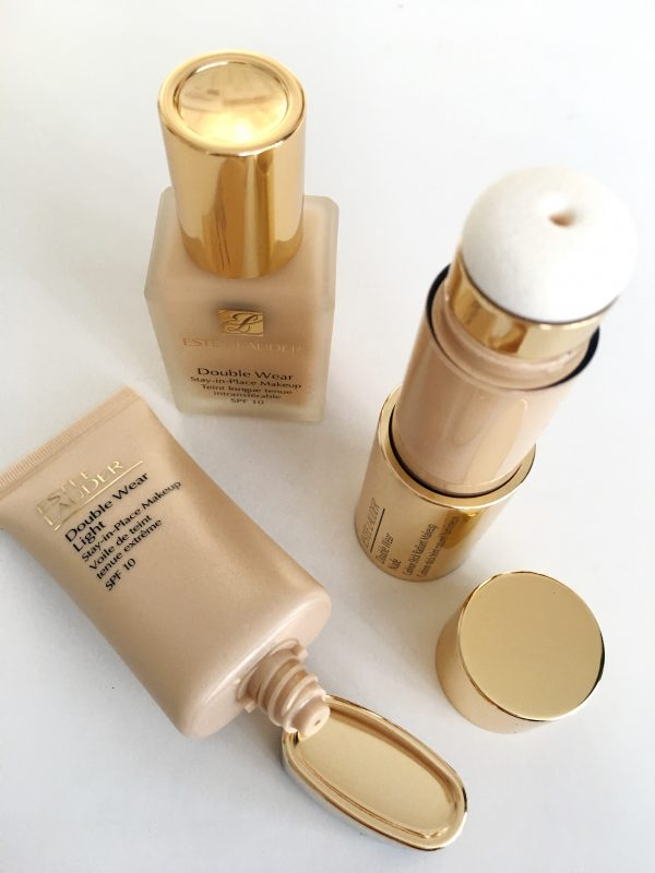 The Estee Lauder Double Wear range – In Bone and 0.5 intensity.
