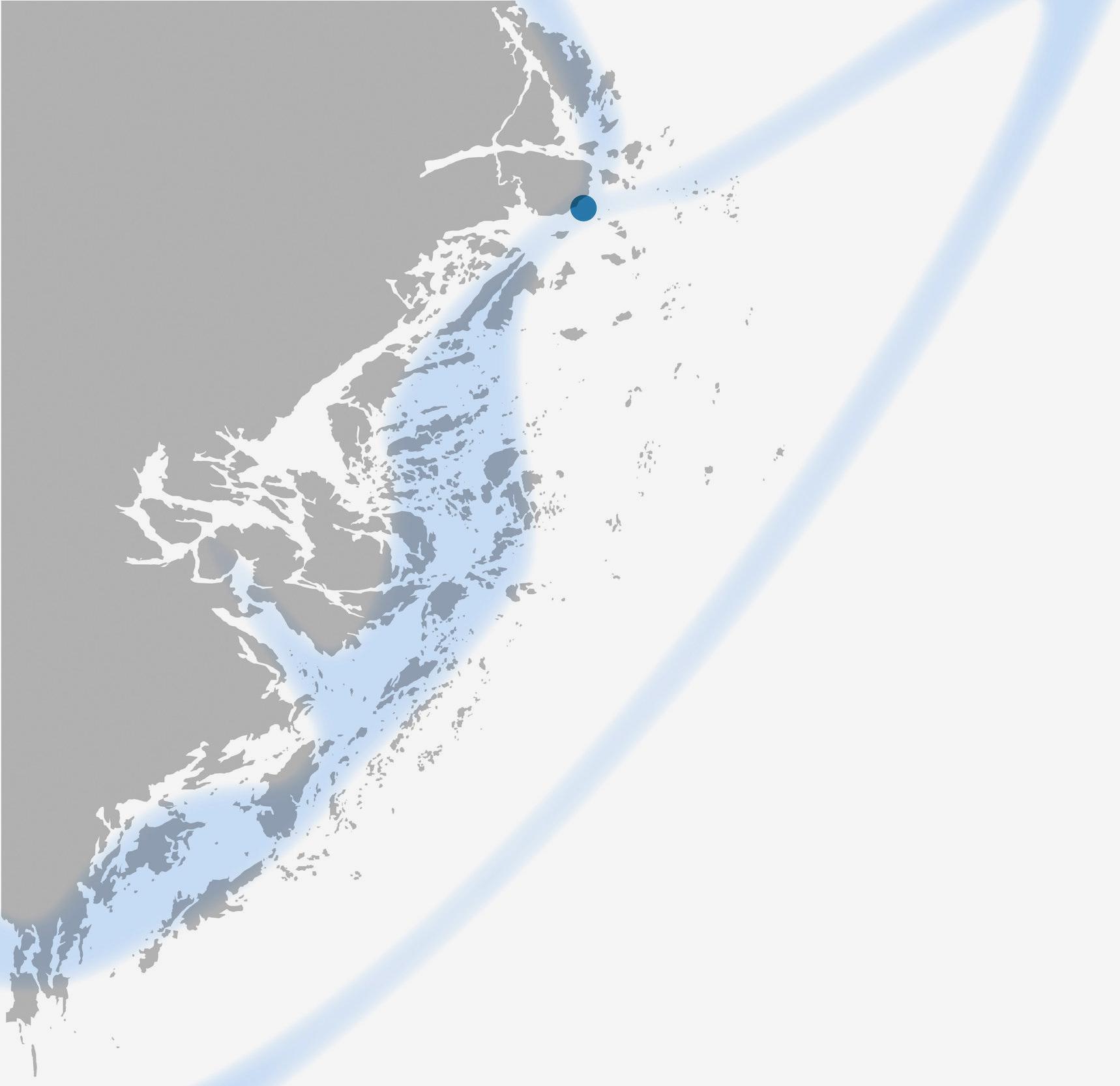 Den ryska flottans väg söderut, 12–18 juli. ©Brända hemman/Gunnar Lind.