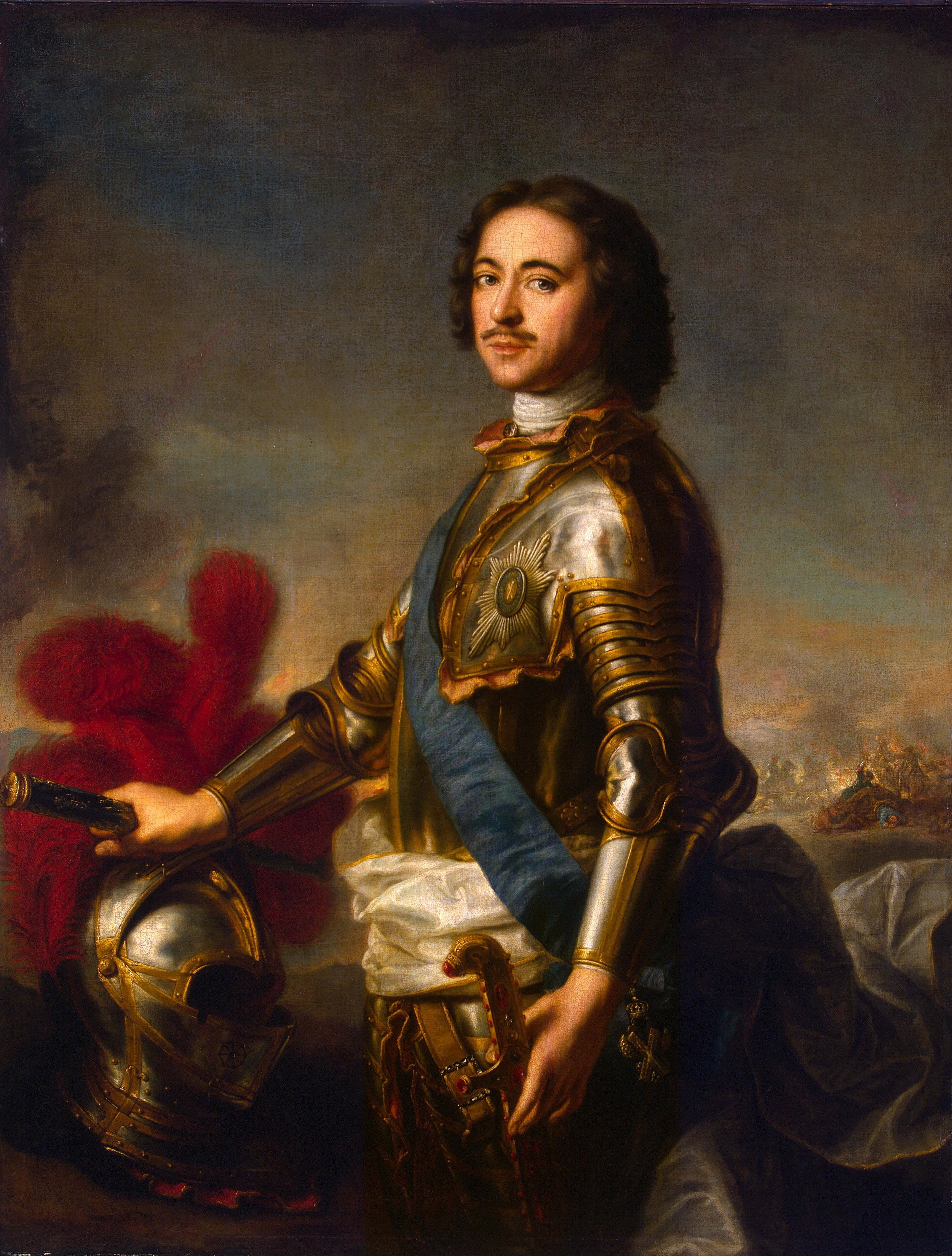 Rysslands tsar Peter I, Jean-Marc Nattier, 1717. Eremitaget, S:t Petersburg.