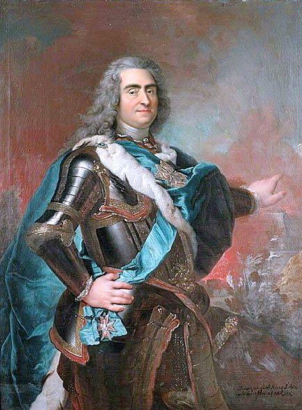 August den starke, kung av Sachsen-Polen. Louis de Silvestre d.y.