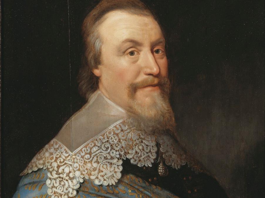 Axel Oxenstierna (1583–1654) är utan jämförelse den som betydde mest för att organisera Sverige och att ge adeln en maktbas under 1600-talet. Porträtt av Michiel Janszoon van Miereveld. Nationalmuseum.