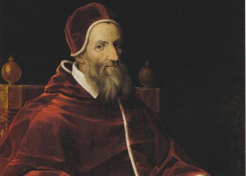 Ugo Boncompagni från Bologna valdes till påve 1572 och tog sig namnet Gregorius XIII. Hans främsta bedrift var reformeringen av kalendern. Okänd konstnär.