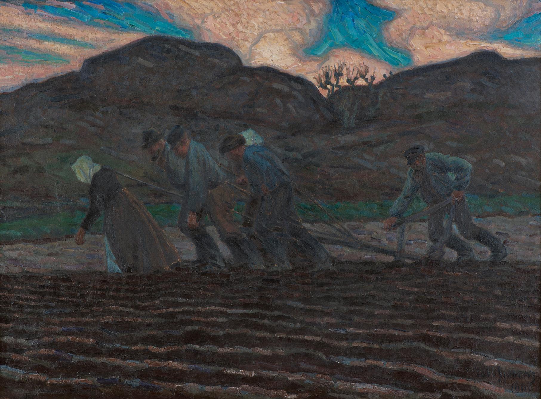 Jordbruk i havsbandet, Hummmelskär. Axel Sjöberg, 1900. Nationalmuseum
