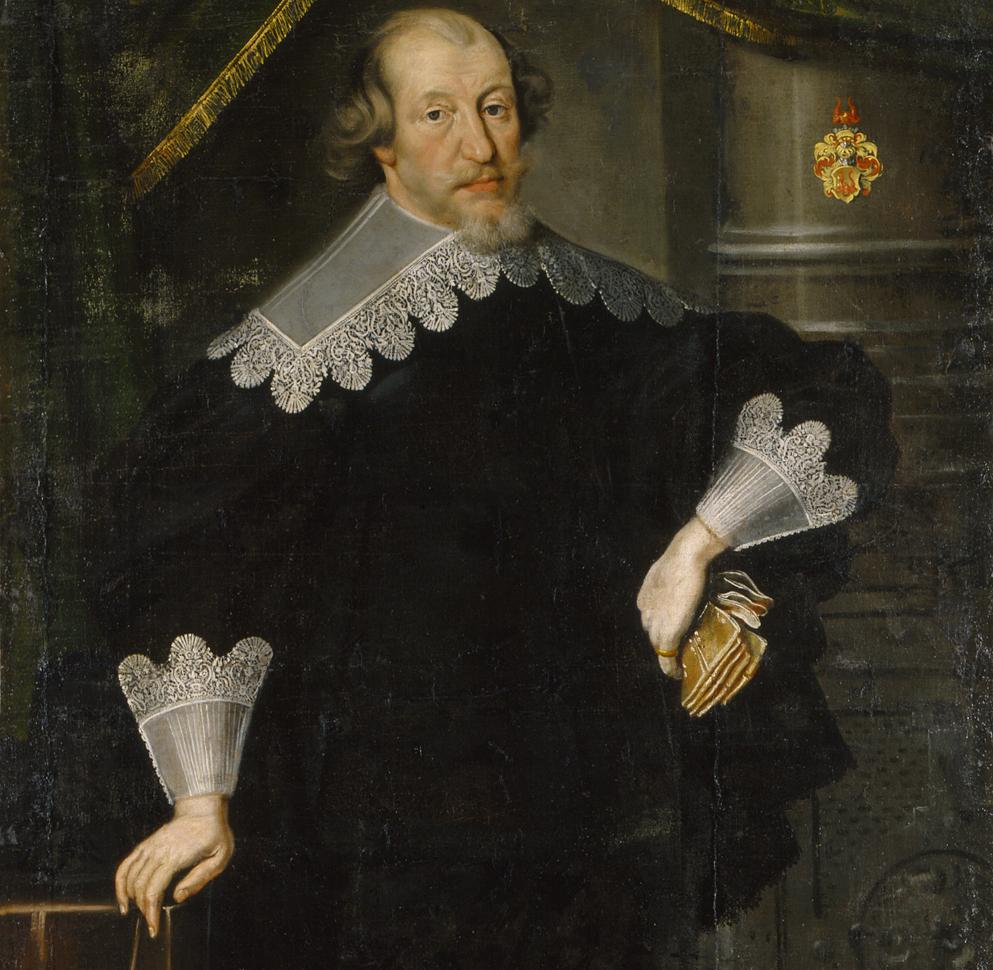 Porträtt av Gabriel Gustavsson Oxenstierna, oljemålning tillskriven    Cornelius Arendtz    . Nationalmuseum.