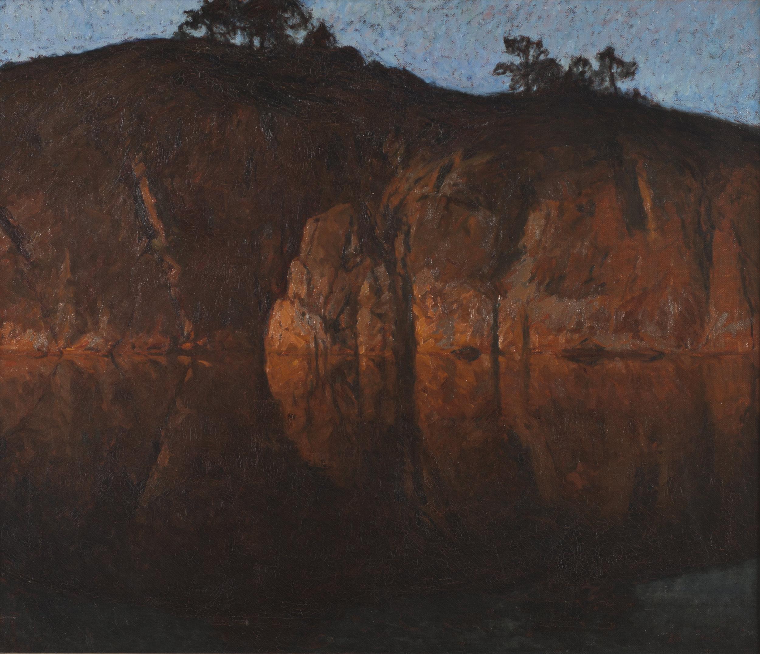 Efter solnedgången, Gottfrid Kallstenius. Nationalmuseum