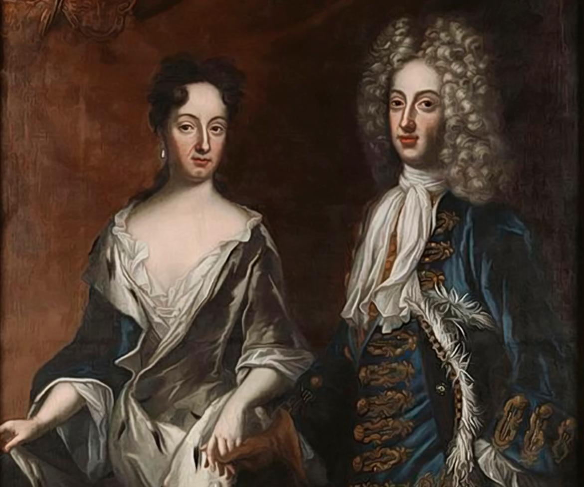Karl XII:s syster Hedvig Sofia gifte sig med hertigen Fredrik IV av Holstein-Gottorp 1698 men blev änka och regent över hertigdömet redan 1702. Hon avled själv av smittkoppor 1708, endast 27 år gammal..Porträtt av David von Krafft, Nationalmuseum.