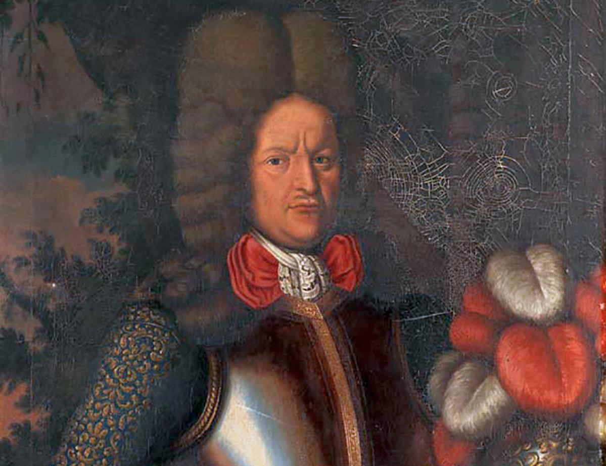 Porträtt av Johann Patkul. Okänd konstnär.