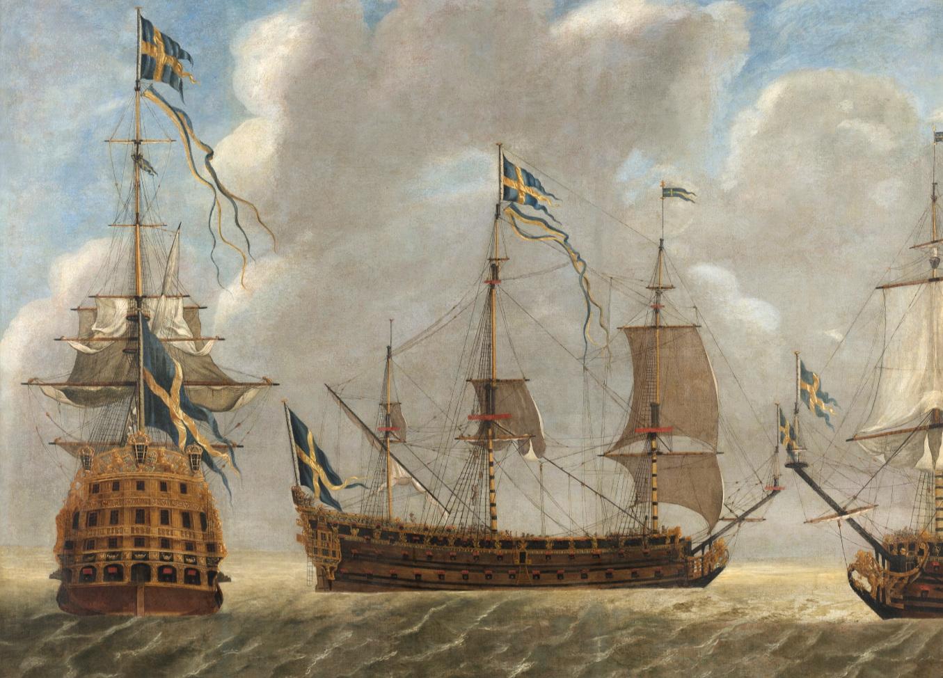 Linjeskeppet Kung Karl. Statens maritima museer, foto Johan Jonson.