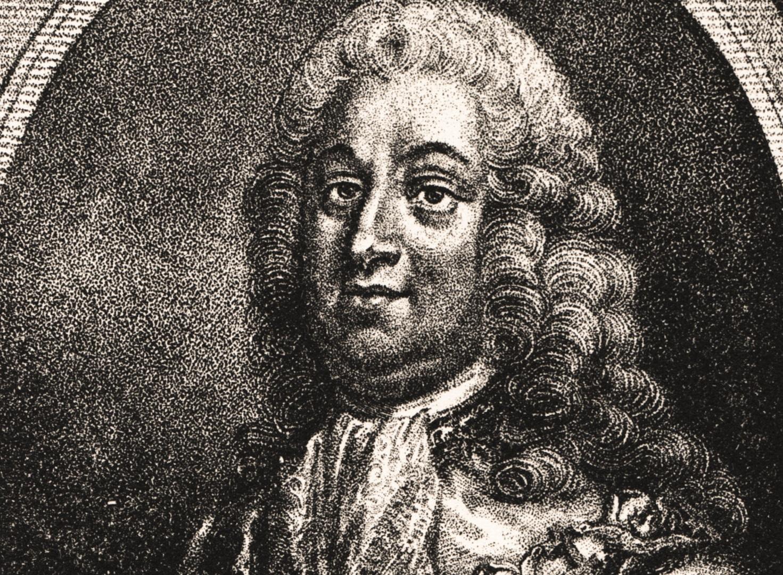 Porträtt av Edvard Didrik Taube (beskuret). Född 3 december 1681 i Turinge, död 1751 i Stockholm. Kopparstick av Johan Fredrik Martin. Kungliga biblioteket.
