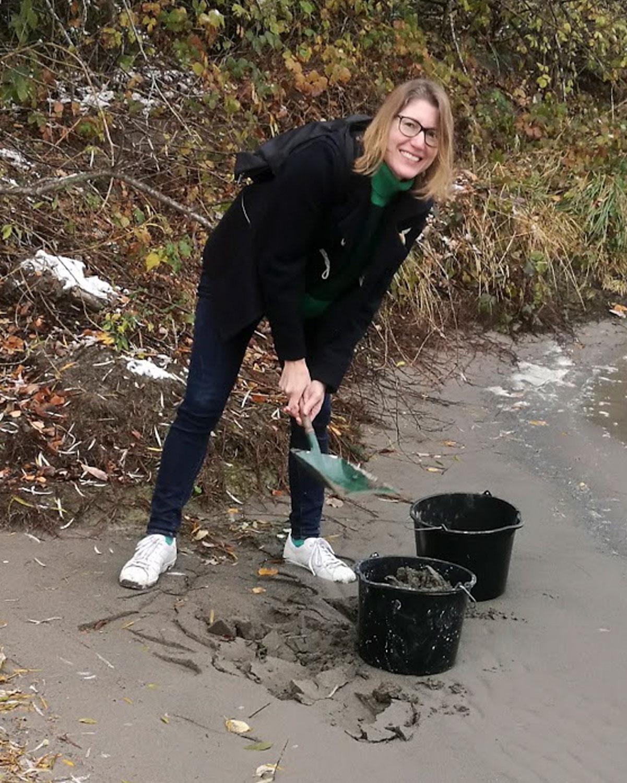 Flusssand für den Feinputz