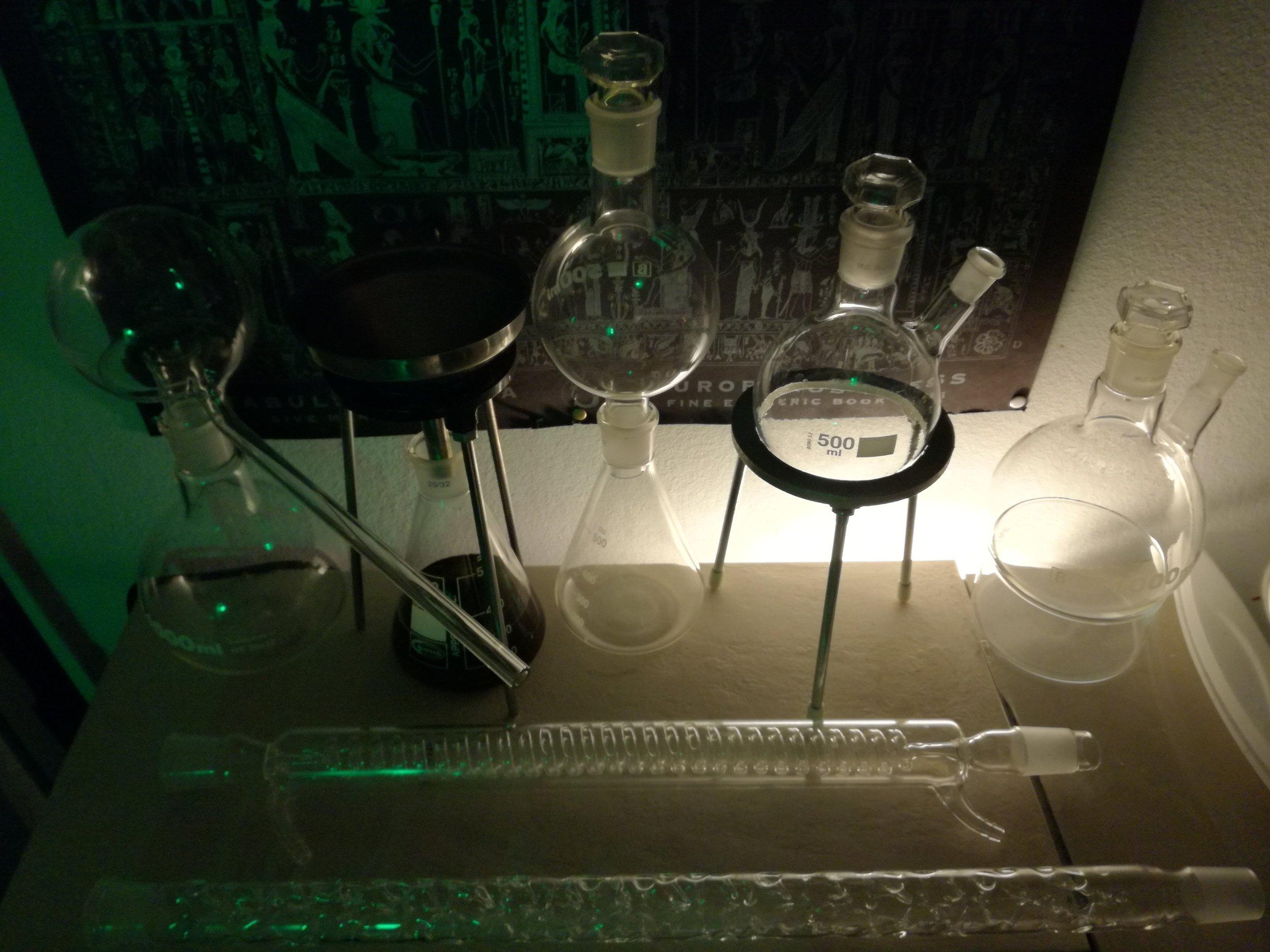 Ein Einblick in das Alchemische Labor.